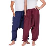 BAUMWOLLHOSE leichte BAUMWOLLE Yoga YOGAHOSE bequem NEPAL locker M-XXL
