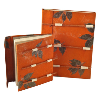 Loktapapier Notizbuch wood orange A6