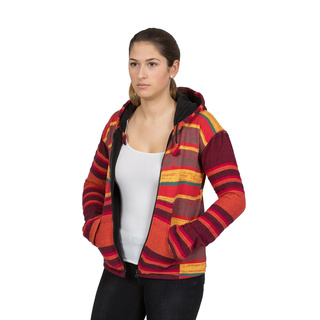 Damen Jacke Knitted rot / orange L