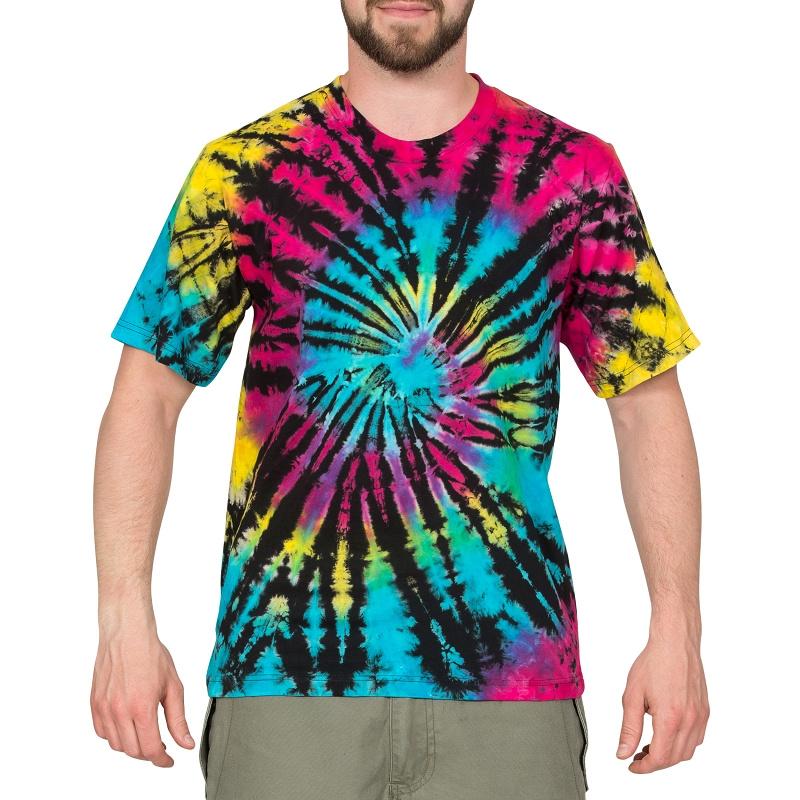 Top Batik T-Shirt Psy Regular Fit für Herren aus Baumwolle JT44