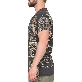 Thai Tempel Tattoo T-Shirt Turtle schwarz M
