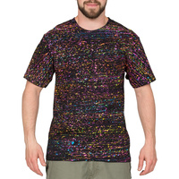 Disco T-Shirt - UV-Licht Fluoreszierendes Regular Fit M